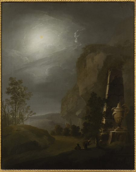 A Night Landscape with an Ancient Vase and a Fragment of an Obelisk