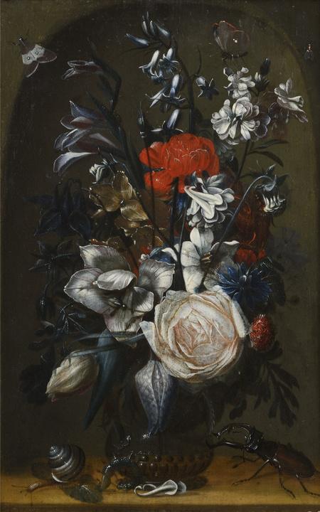 A Bouquet in a Niche