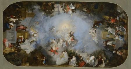 Triumf Boží moudrosti - modelleto k nástropní fresce Filozofického sálu strahovské knihovny