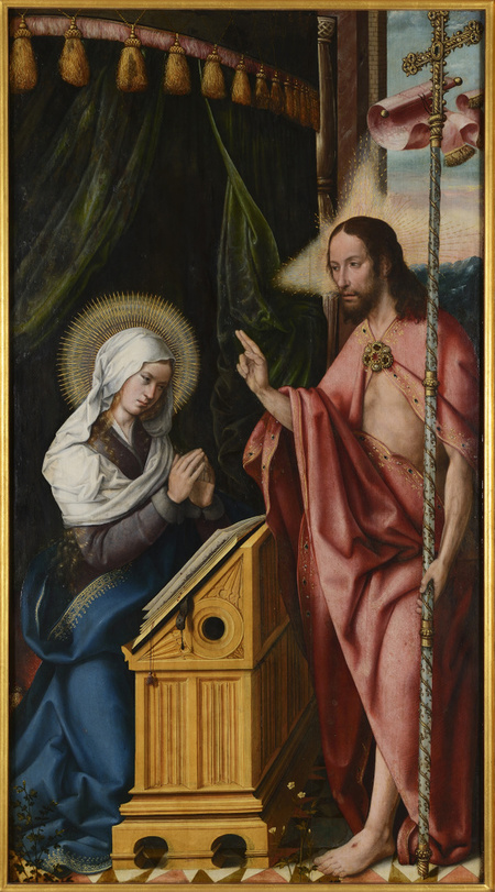 Zmrtvýchvstalý Kristus se zjevuje Panně Marii