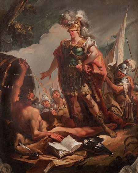 Alexander Veliký před Diogenem