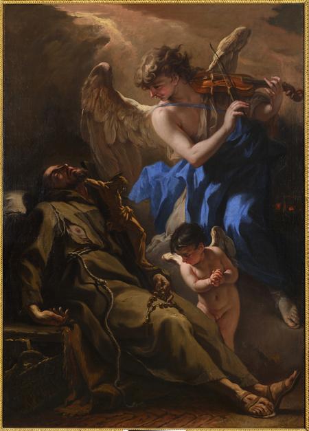 Sv. František z Assisi naslouchá hudbě nebeských chórů
