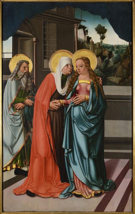 """""""Strahovský triptych"""" - Navštívení Panny Marie, Narození Krista, Útěk do Egypta, kolem 1510"""